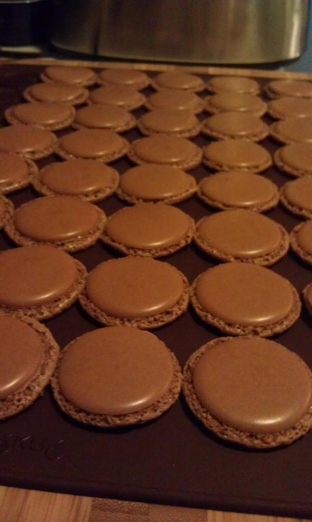 Chocolate Macaron Caps