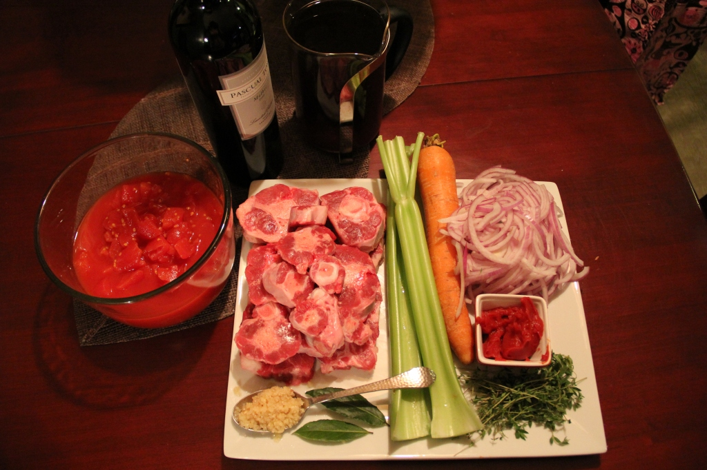 Oxtail Soup ingredients