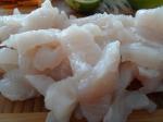 Sliced fish